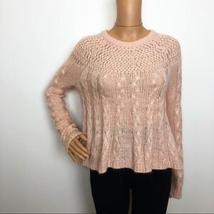 Hollister pale pink sweater XS